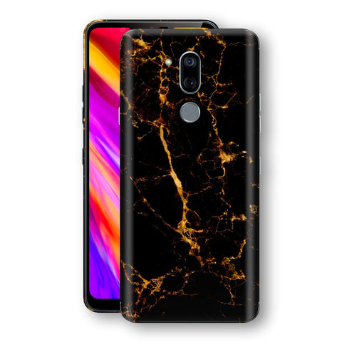 LG G7 ThinQ Print Custom Signature Marble Black Gold Skin Wrap Decal by EasySkinz - Design 2