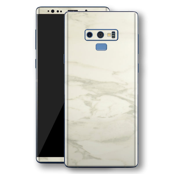 Samsung Galaxy NOTE 9 Luxuria White Marble Skin Wrap Decal Protector | EasySkinz