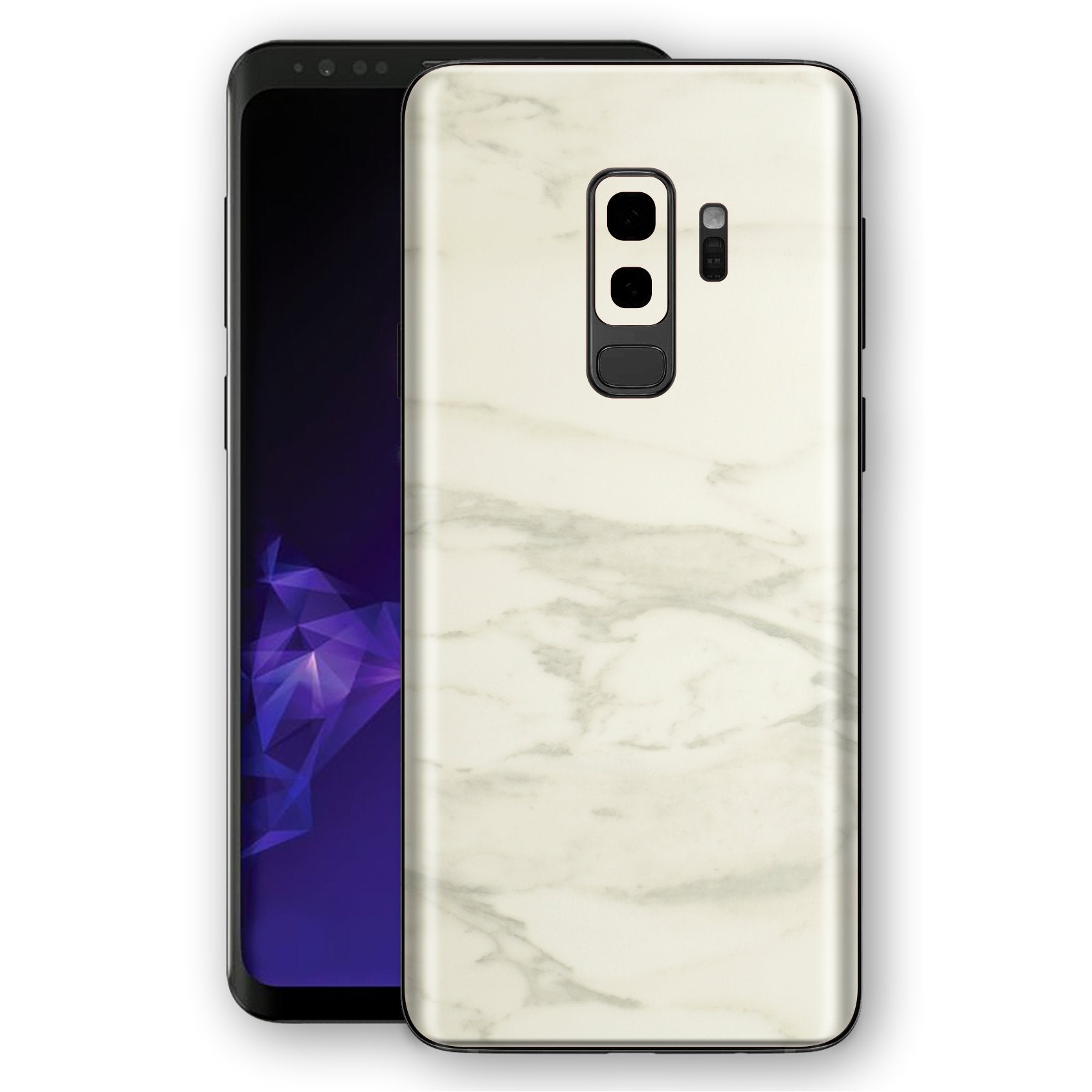 Samsung GALAXY S9+ PLUS Luxuria White Marble Skin Wrap Decal Protector | EasySkinz
