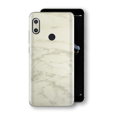 XIAOMI Redmi NOTE 5 Luxuria White Marble Skin Wrap Decal Protector | EasySkinz