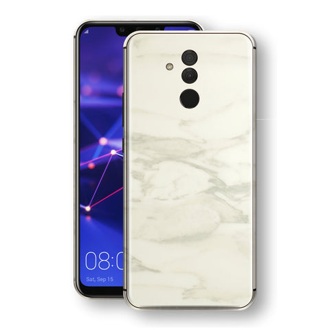 Huawei MATE 20 LITE Luxuria White Marble Skin Wrap Decal Protector | EasySkinz