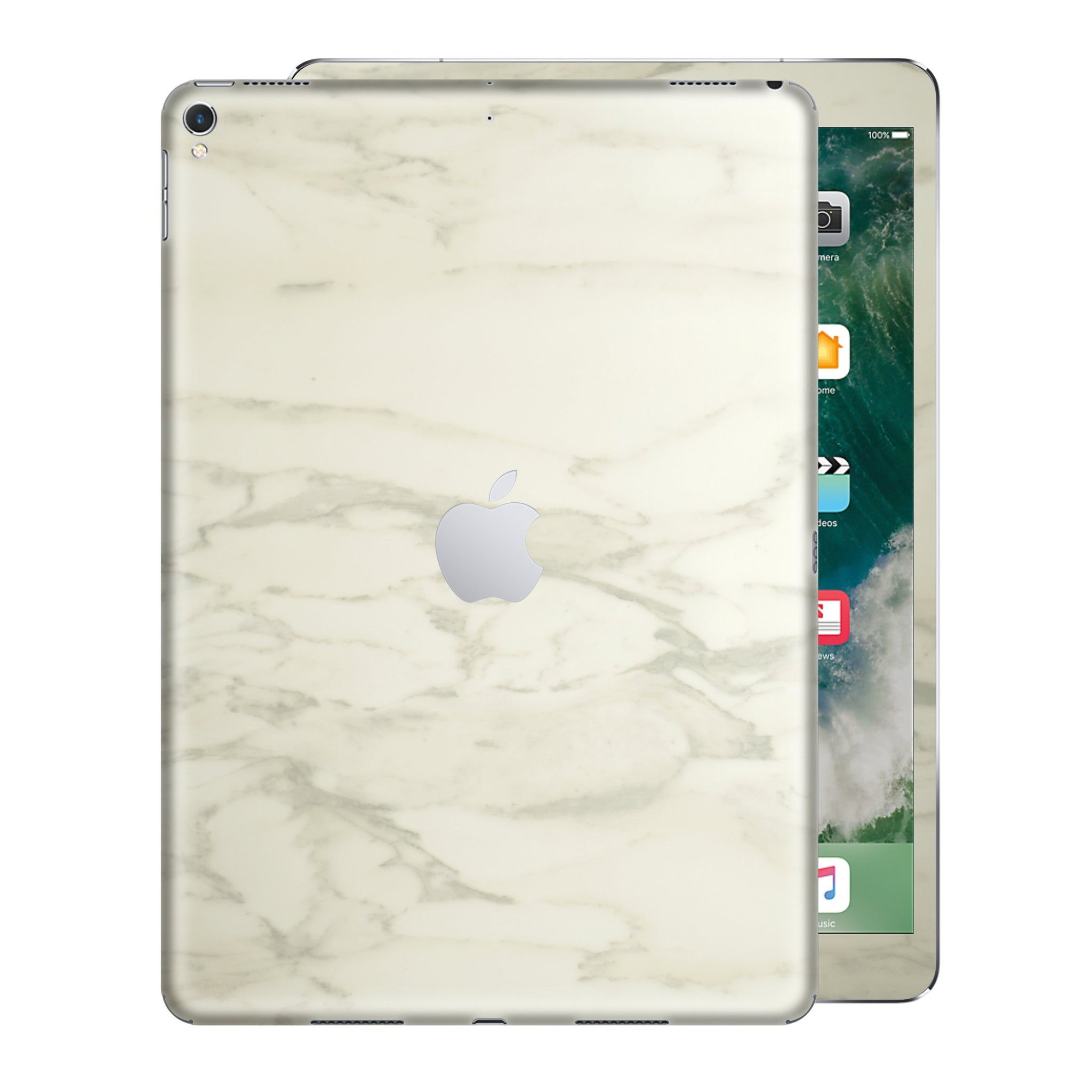 iPad PRO 10.5 inch 2017 Luxuria White Marble Skin Wrap Decal Protector | EasySkinz