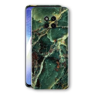 Huawei MATE 20 PRO Print Custom Signature Marble GREEN Skin Wrap Decal by EasySkinz - Design 2