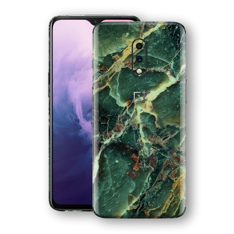 OnePlus 7 Print Custom Signature Marble GREEN Skin Wrap Decal by EasySkinz - Design 2