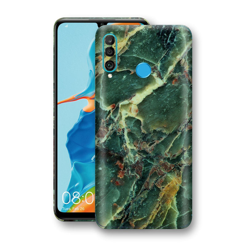 Huawei P30 LITE Print Custom Signature Marble GREEN Skin Wrap Decal by EasySkinz - Design 2