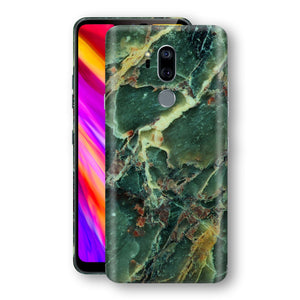 LG G7 ThinQ Print Custom Signature Marble GREEN Skin Wrap Decal by EasySkinz - Design 2
