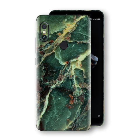 XIAOMI Redmi NOTE 5 Print Custom Signature Marble GREEN Skin Wrap Decal by EasySkinz - Design 2