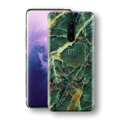 OnePlus 7 PRO Print Custom Signature Marble GREEN Skin Wrap Decal by EasySkinz - Design 2