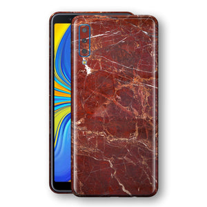 Samsung Galaxy A7 (2018) Print Custom Signature Marble RED Skin Wrap Decal by EasySkinz - Design 2