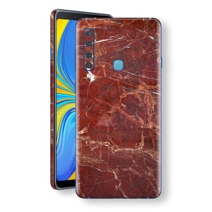 Samsung Galaxy A9 (2018) Print Custom Signature Marble RED Skin Wrap Decal by EasySkinz - Design 2