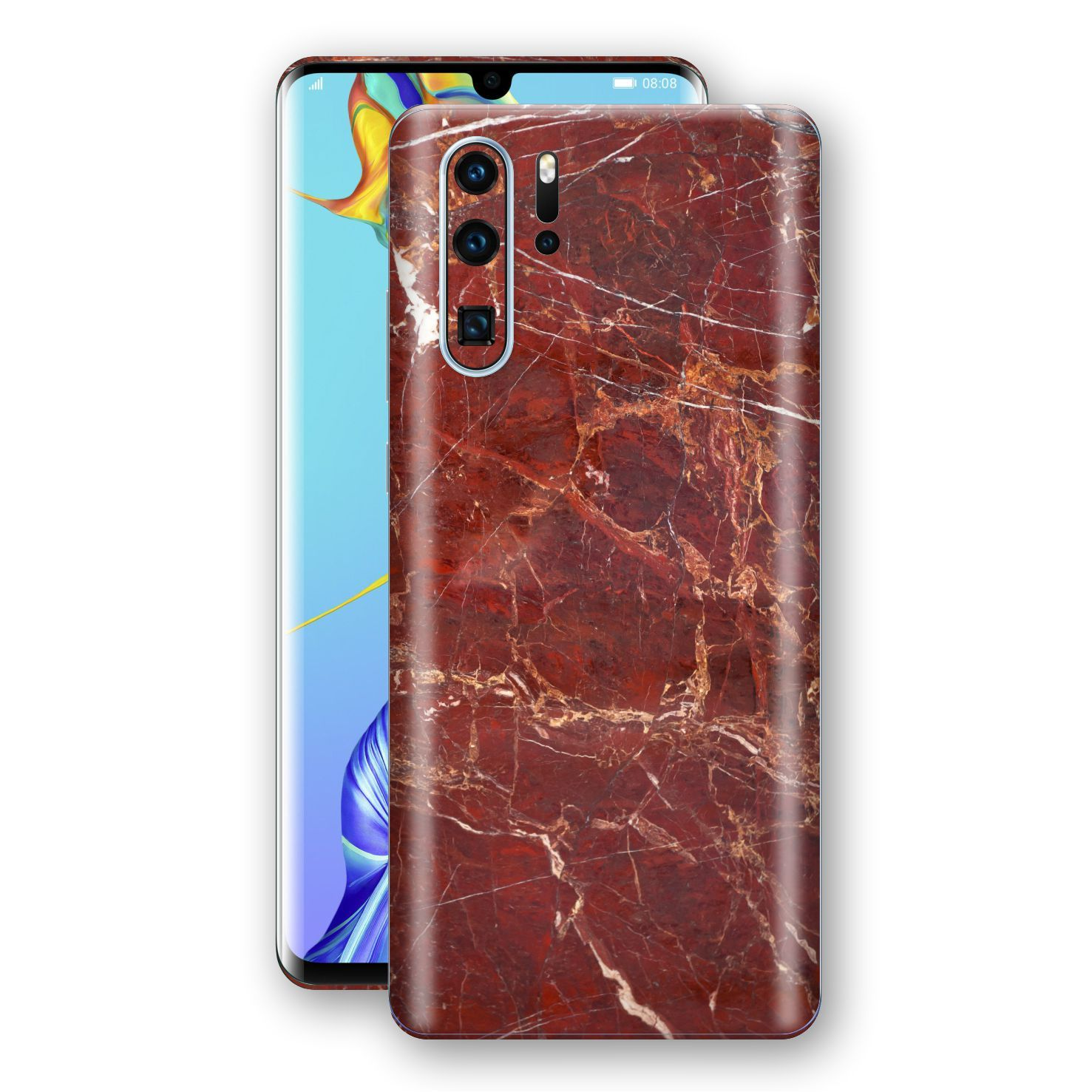 Huawei P30 PRO Print Custom Signature Marble RED Skin Wrap Decal by EasySkinz - Design 2