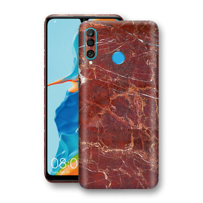 Huawei P30 LITE Print Custom Signature Marble RED Skin Wrap Decal by EasySkinz - Design 2