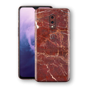 OnePlus 7 Print Custom Signature Marble RED Skin Wrap Decal by EasySkinz - Design 2