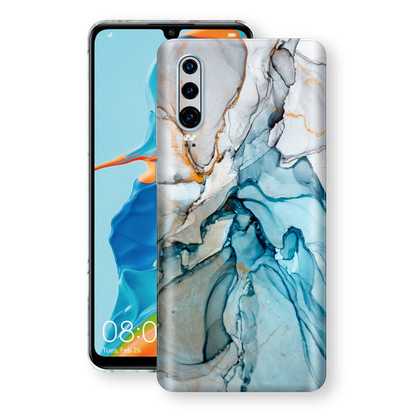 Huawei P30 Print Custom Signature Marble TURQUOISE Skin Wrap Decal by EasySkinz - Design 2