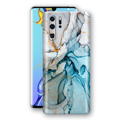 Huawei P30 PRO Print Custom Signature Marble TURQUOISE Skin Wrap Decal by EasySkinz - Design 2
