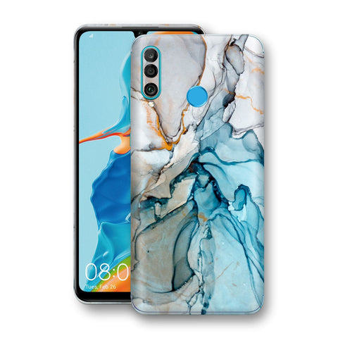 Huawei P30 LITE Print Custom Signature Marble TURQUOISE Skin Wrap Decal by EasySkinz - Design 2