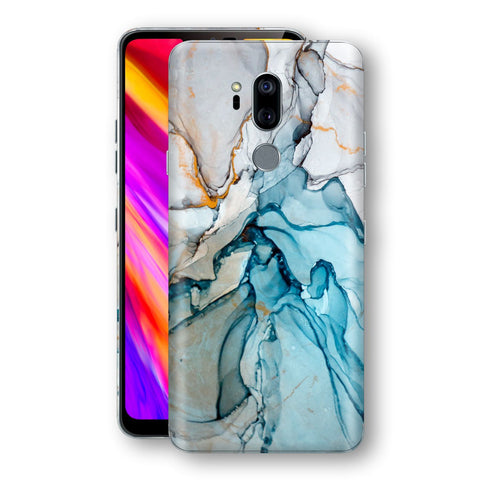 LG G7 ThinQ Print Custom Signature Marble TURQUOISE Skin Wrap Decal by EasySkinz - Design 2