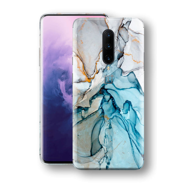 OnePlus 7 PRO Print Custom Signature Marble TURQUOISE Skin Wrap Decal by EasySkinz - Design 2