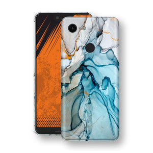 Google Pixel 3 XL Print Custom Signature Marble TURQUOISE Skin Wrap Decal by EasySkinz - Design 2