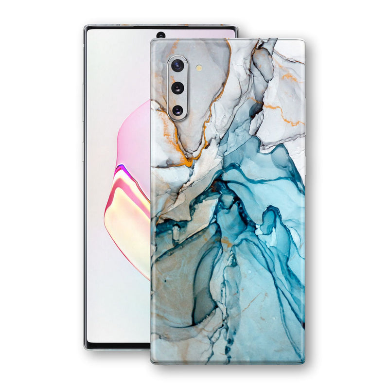 Samsung Galaxy NOTE 10 Print Custom Signature Marble TURQUOISE Skin Wrap Decal by EasySkinz - Design 2