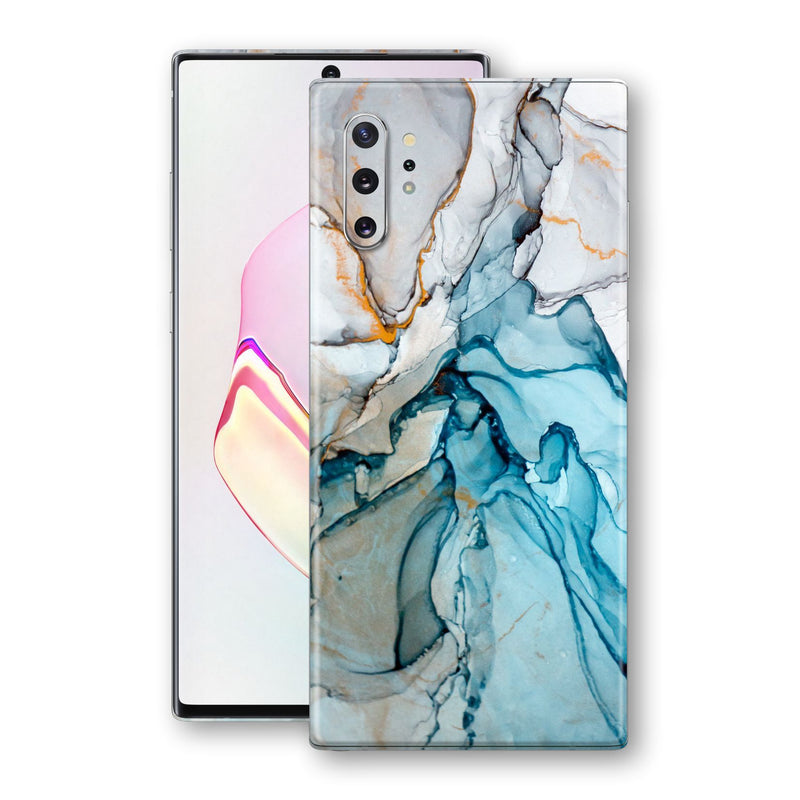 Samsung Galaxy NOTE 10+ PLUS Print Custom Signature Marble TURQUOISE Skin Wrap Decal by EasySkinz - Design 2