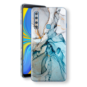 Samsung Galaxy A9 (2018) Print Custom Signature Marble TURQUOISE Skin Wrap Decal by EasySkinz - Design 2