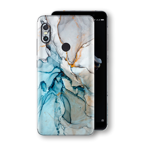 XIAOMI Redmi NOTE 5 Print Custom Signature Marble TURQUOISE Skin Wrap Decal by EasySkinz - Design 2