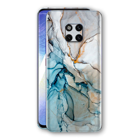 Huawei Mate 20 PRO Print Custom Signature Marble TURQUOISE Skin Wrap Decal by EasySkinz - Design 2