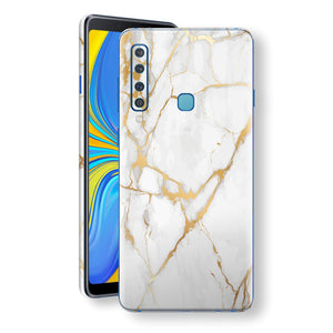 Samsung Galaxy A9 (2018) Print Custom Signature Marble White Gold Skin Wrap Decal by EasySkinz - Design 2