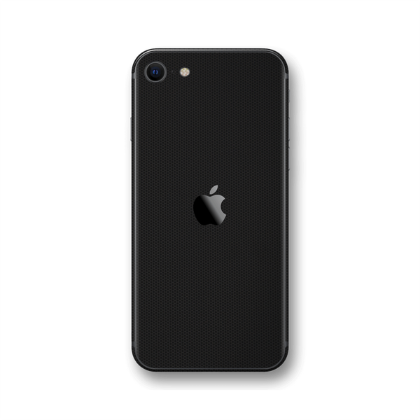 iPhone SE (2020) Black Matrix Textured Skin Wrap Sticker Decal Cover Protector by EasySkinz