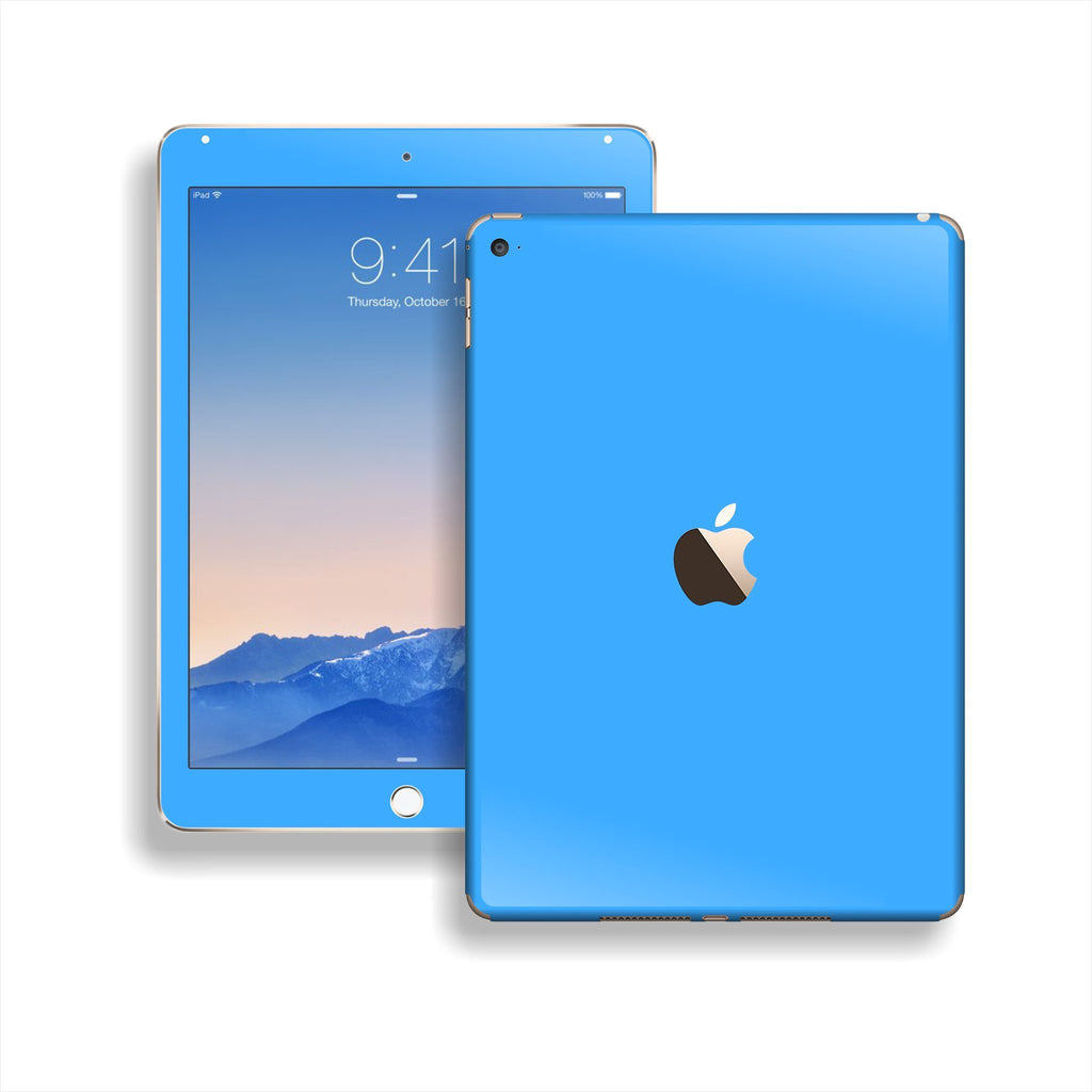iPad Air 2 Blue Matt Matte Skin Wrap Sticker Decal Cover Protector by EasySkinz