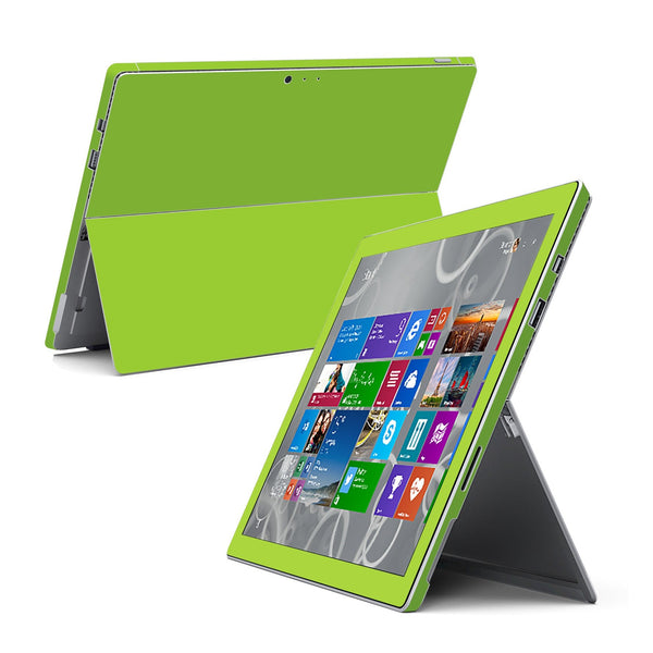 Microsoft Surface Pro 3 Green MATT Skin Wrap Sticker Cover Decal Protector by EasySkinz