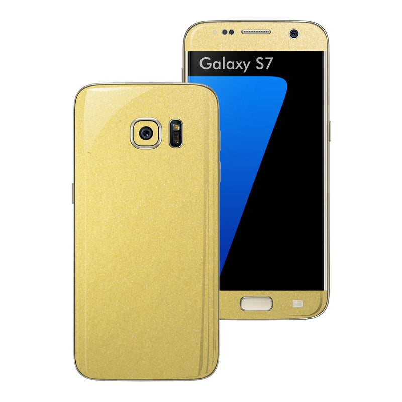 Samsung Galaxy S7 Gold Matt Metallic Skin Wrap Decal Sticker Cover Protector by EasySkinz
