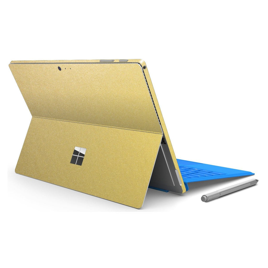 Microsoft Surface PRO 4 Gold Metallic MATT Matte Skin Wrap Sticker Decal Cover Protector by EasySkinz