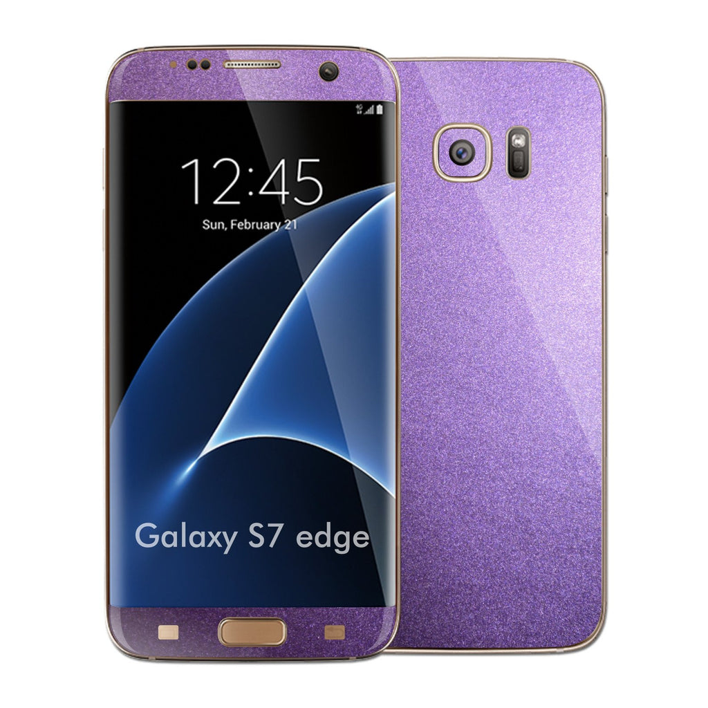 Samsung Galaxy S7 EDGE Violet Matt Metallic Skin Wrap Decal Sticker Cover Protector by EasySkinz