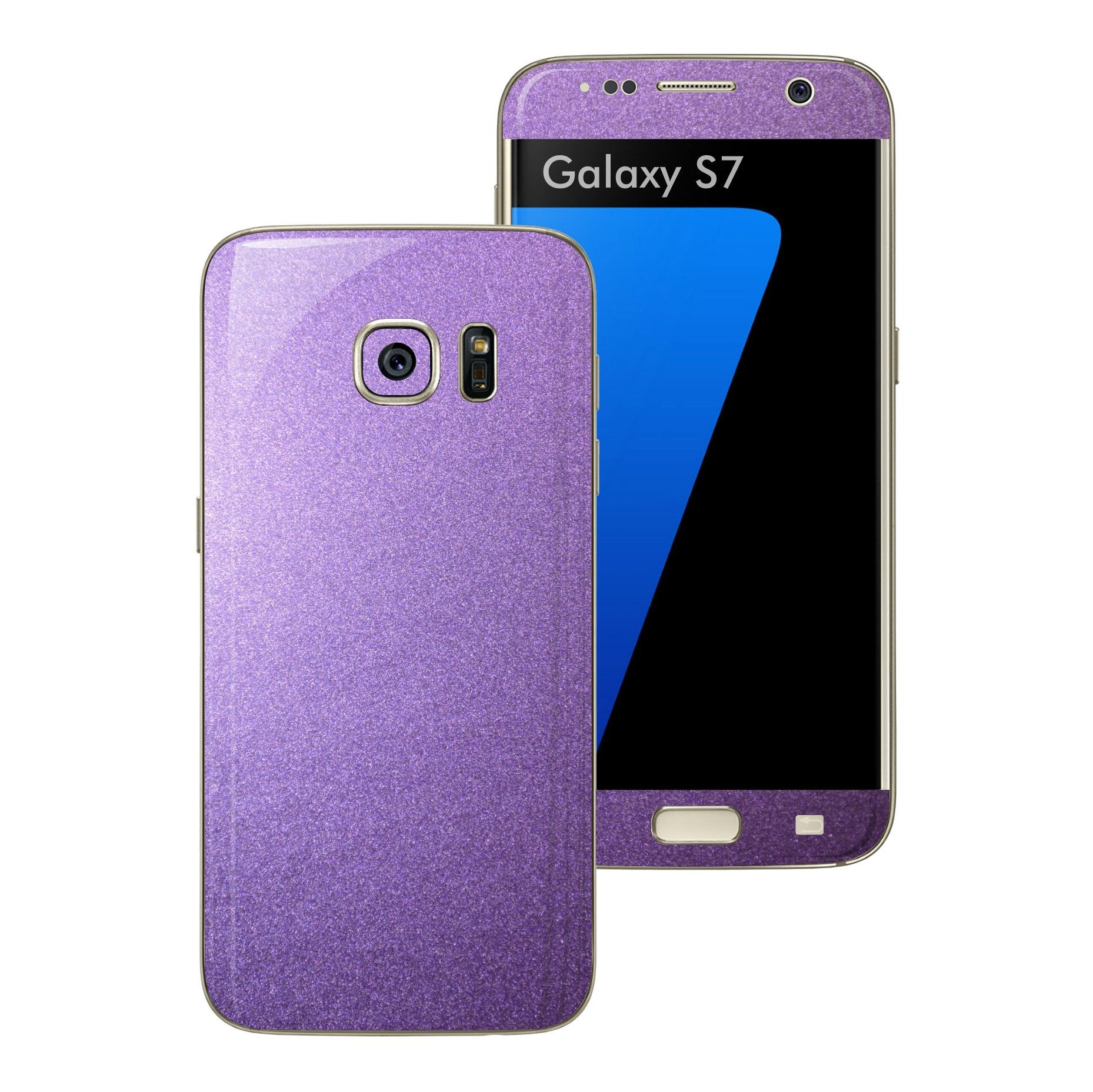 Samsung Galaxy S7 Violet Matt Metallic Skin Wrap Decal Sticker Cover Protector by EasySkinz