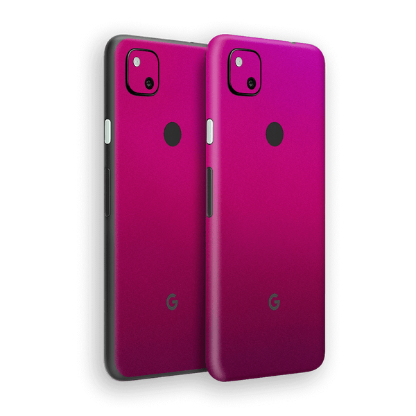 Google Pixel 4a Gloss Glossy Fierce Fuchsia Metallic Skin Wrap Sticker Decal Cover Protector by EasySkinz