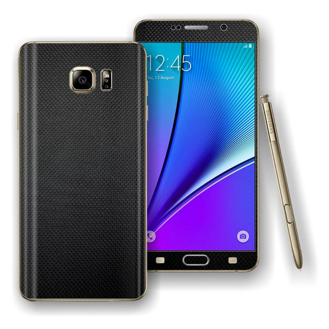 Samsung Galaxy NOTE 5 MICRO CARBON Fibre Skin Wrap Decal Cover Protector by EasySkinz