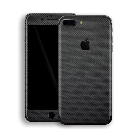 iPhone 7 Plus 3D Textured MICRO Black Carbon Fibre Fiber Skin, Decal, Wrap, Protector, Cover by EasySkinz | EasySkinz.com