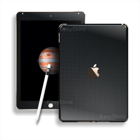 iPad PRO 3D Textured MICRO Black CARBON Fibre Fiber Skin Wrap Sticker Decal Cover Protector by EasySkinz