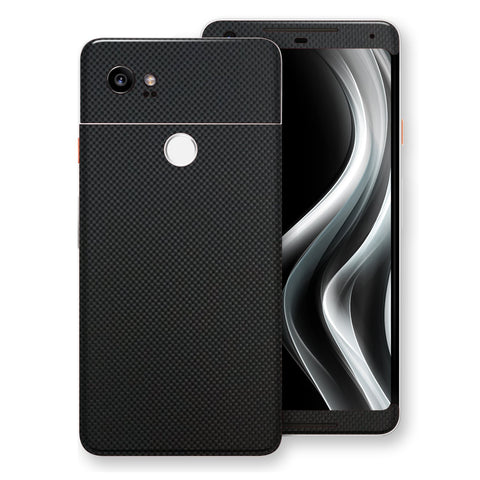 Google Pixel 2 XL 3D Textured MICRO Black Carbon Fibre Fiber Skin, Decal, Wrap, Protector, Cover by EasySkinz | EasySkinz.com