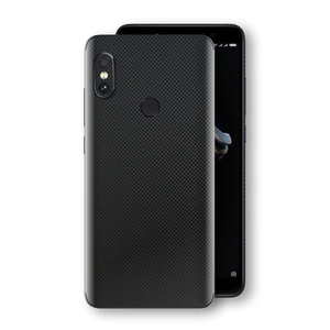 XIAOMI Redmi NOTE 5 3D Textured MICRO BLACK Carbon Fibre Fiber Skin, Decal, Wrap, Protector, Cover by EasySkinz | EasySkinz.com