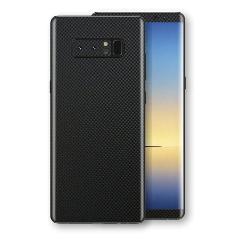 Samsung Galaxy NOTE 8 3D Textured MICRO BLACK Carbon Fibre Fiber Skin, Decal, Wrap, Protector, Cover by EasySkinz | EasySkinz.com