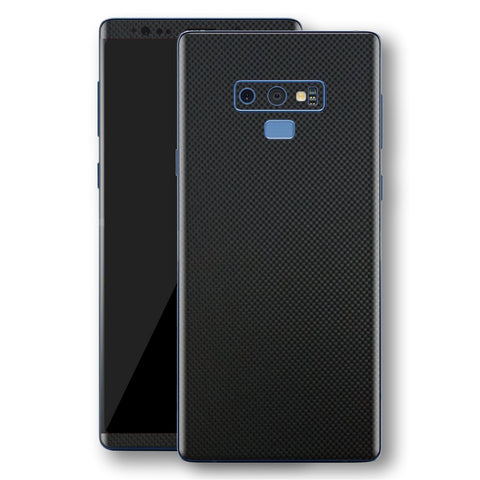 Samsung Galaxy NOTE 9 3D Textured MICRO BLACK Carbon Fibre Fiber Skin, Decal, Wrap, Protector, Cover by EasySkinz | EasySkinz.com