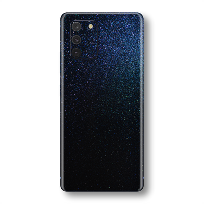Samsung Galaxy S10 LITE Glossy Midnight Blue Metallic Skin Wrap Sticker Decal Cover Protector by EasySkinz