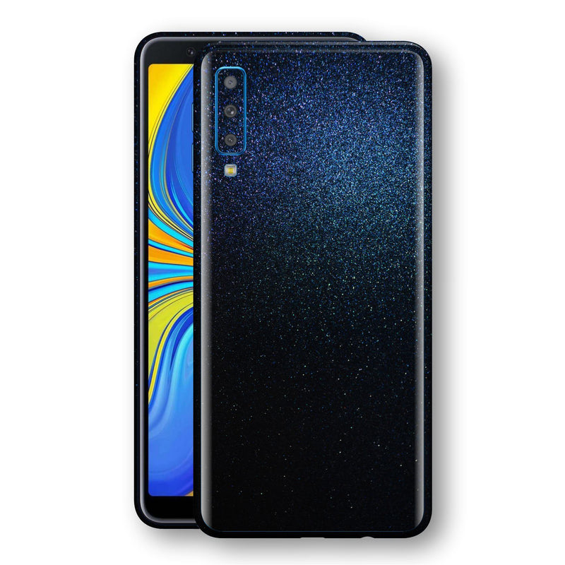 Samsung Galaxy A7 (2018) Glossy Midnight Blue Metallic Skin, Decal, Wrap, Protector, Cover by EasySkinz | EasySkinz.com