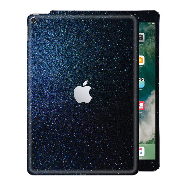 iPad 9.7 inch 2017 Glossy Midnight Blue Metallic Skin Wrap Sticker Decal Cover Protector by EasySkinz