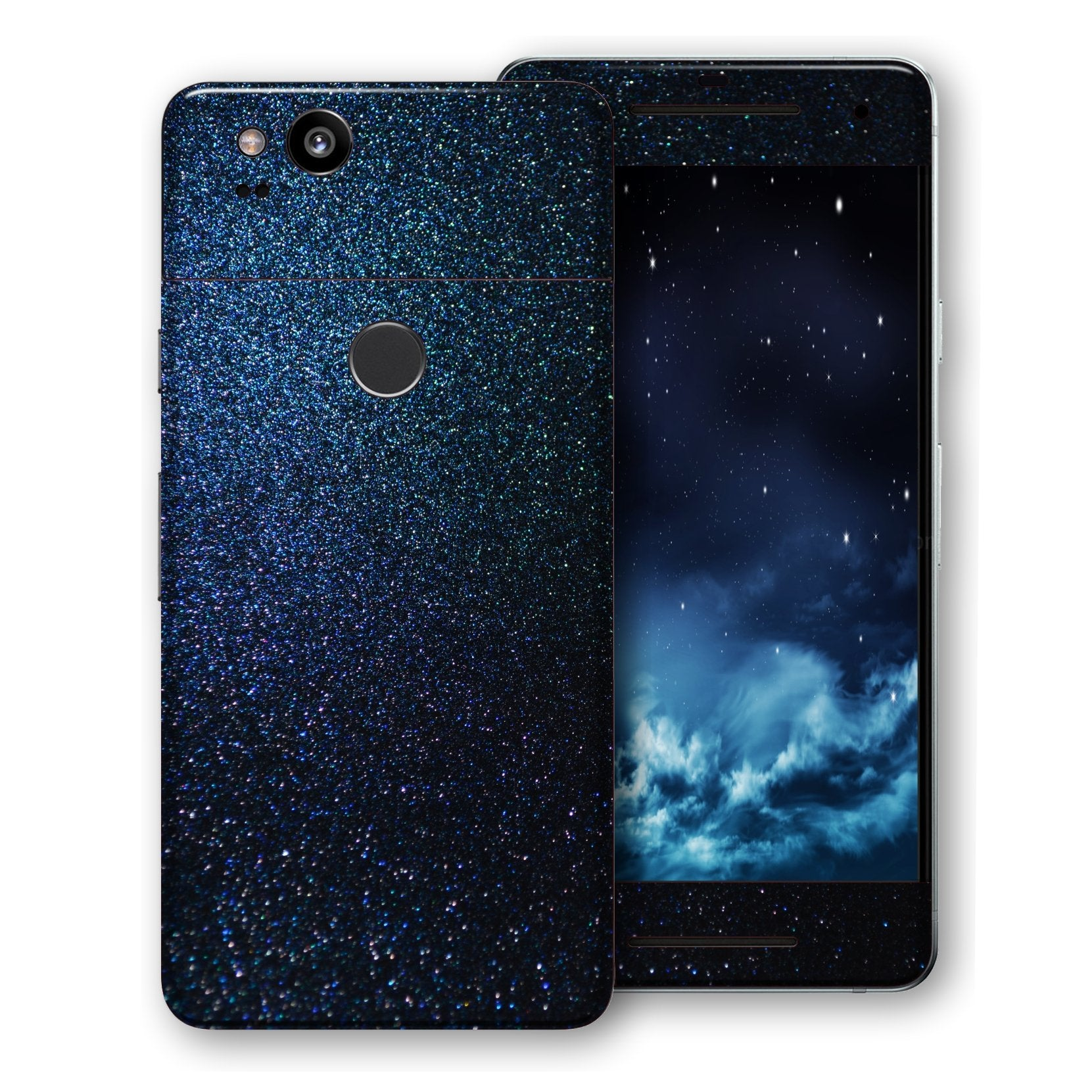 Google Pixel 2 Glossy Midnight Blue Metallic Skin, Decal, Wrap, Protector, Cover by EasySkinz | EasySkinz.com