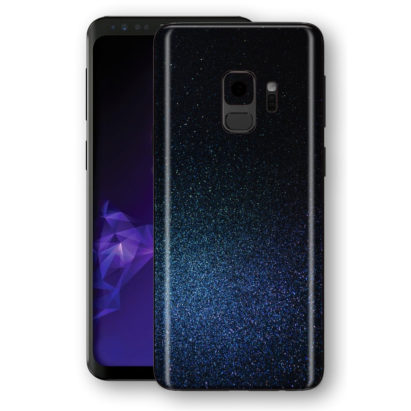 Samsung GALAXY S9 Glossy Midnight Blue Metallic Skin, Decal, Wrap, Protector, Cover by EasySkinz | EasySkinz.com