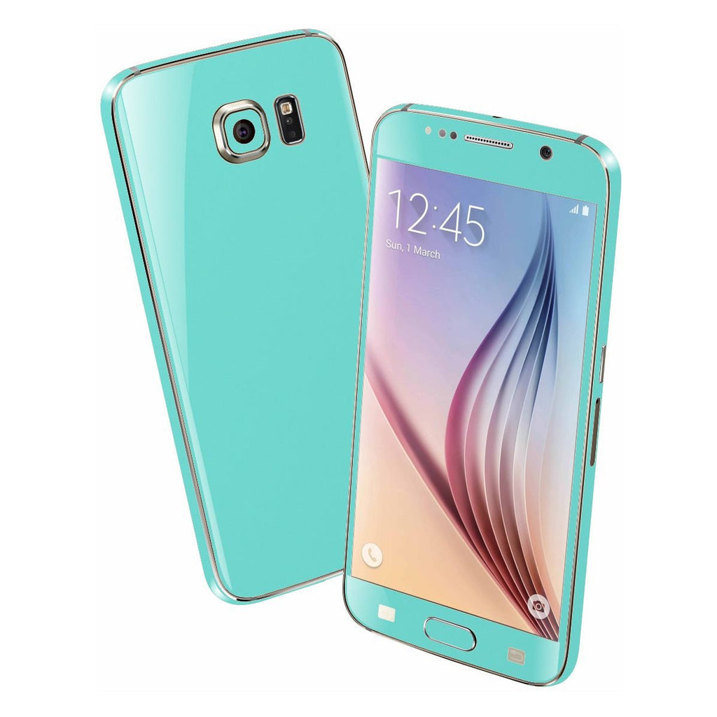 Samsung Galaxy S6 Mint Matt Matte Skin Wrap Sticker Cover Protector Decal by EasySkinz